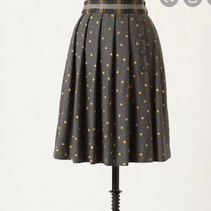 Plenty by Tracy Reese Polka Dot Wool Skirt
